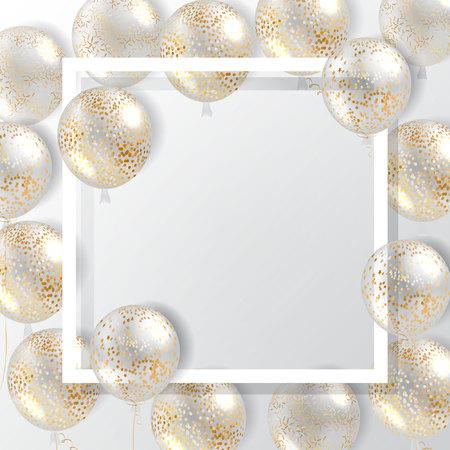 Ballonnen vector geïsoleerd voor poster, dekking, frame.