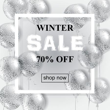 Winter sale banner.