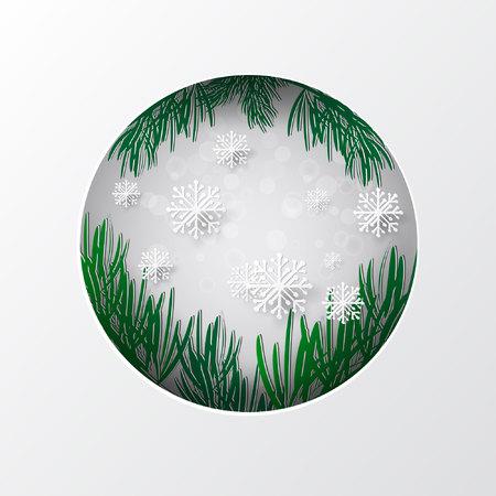 Papier kunst winter achtergrond. Vector voorraad
