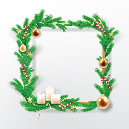 Kerst achtergrond vector stock. Stock Illustratie