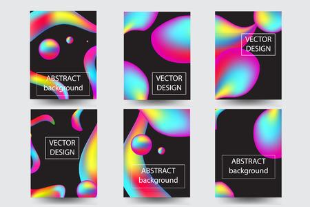 Sjabloonbrochures met kleurrijke vormen, set - vectorvoorraad.