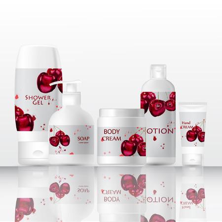 Mock up bottle cosmetics. Stock Illustratie