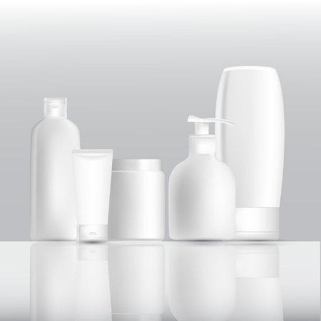 Mock up bottle cosmetics. Illustration