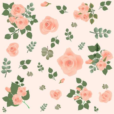 Floral pattern seamless. Vector stock. Stockfoto - 104226411