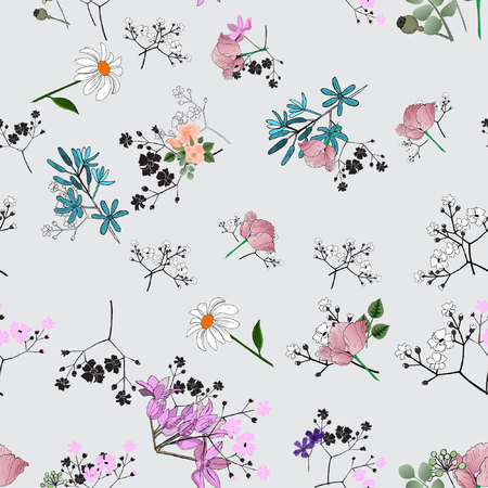 Floral pattern seamless. Vector stock.