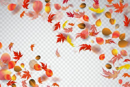 Autumn leaves falling background. Vector stock. Stock Illustratie