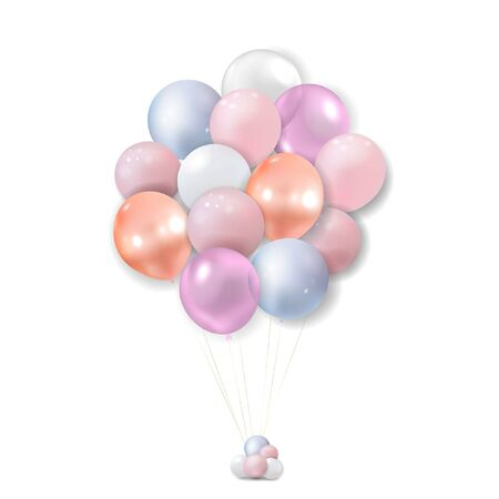 Realistic balloons on white. Vector illustration. Stock Illustratie