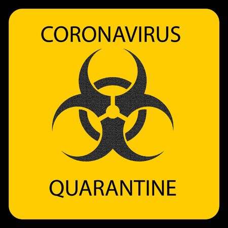Novel Coronavirus 2019-nCOV. Virus Covid 19-NCP. Sign extremely dangerous Danger infection. Coronavirus. Background with reslisric 3d virus cells. Stock Illustratie