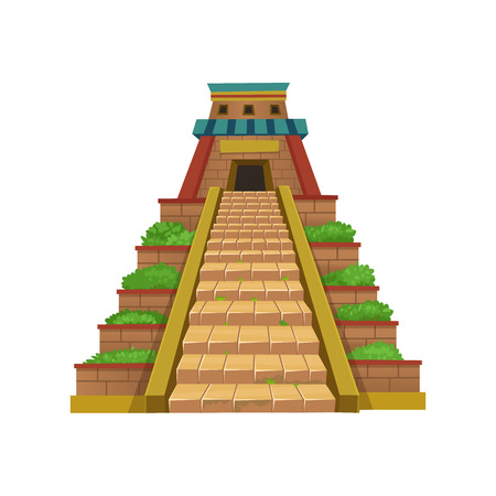 Mayan Pyramid. Vector illustration for games. Archivio Fotografico - 123414390