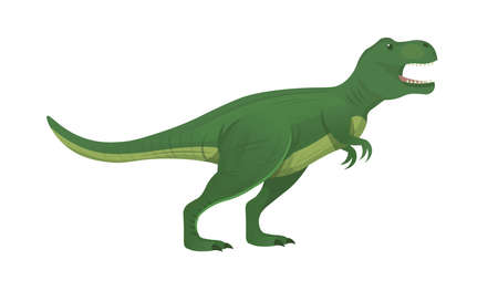 Tyrannosaurus Rex.T. rex, T-Rex, is one of the most large theropods. Vector cartoon dinosaur.