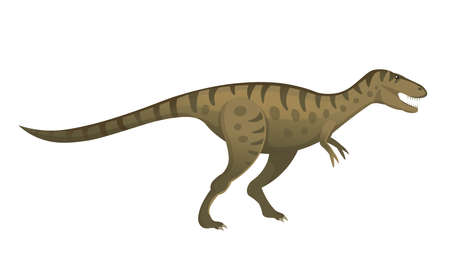 Tarbosaurus was a carnivorous dinosaur. Vector cartoon dinosaur.