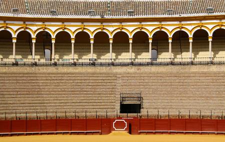 bullring: Monumental Bullring Maestranza in Seville, Spain
