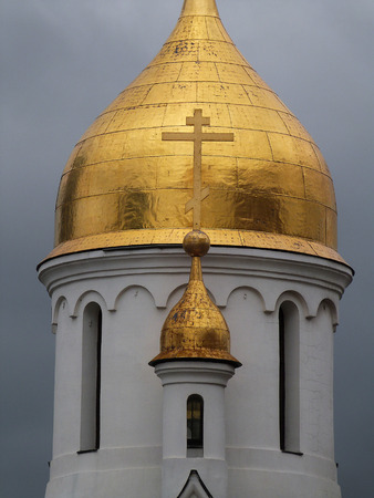 novosibirsk: Dome of the chapel of St Nicholas in Novosibirsk. Russia Stock Photo