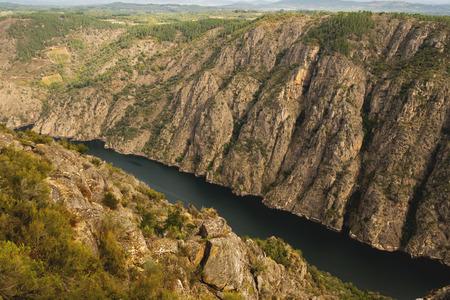 sil: Sil River Canyon in the Ribeira Sacra; Ourense; Spain Stock Photo