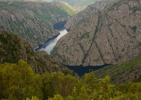 sacra: Sil River Canyon in the Ribeira Sacra, Ourense, Spain