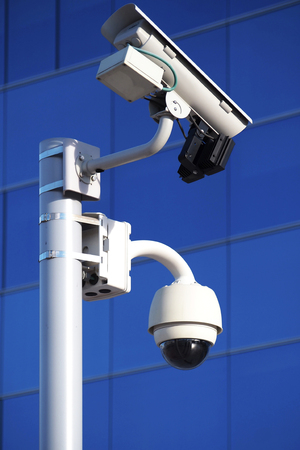 private property: Security surveillance cameras on private property