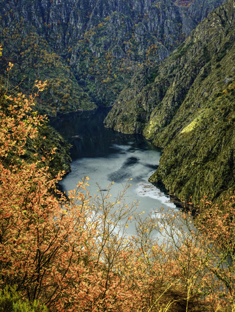 The waters of the Sil River within the Ribeira Sacra, Ourense. Spain