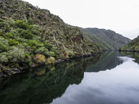 Rio Sil in the Ribeira Sacra in the province of Ourense, Spain
