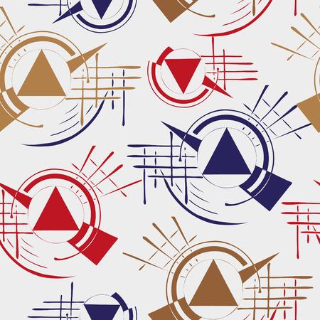 Seamless pattern with abstract pattern Ilustracja