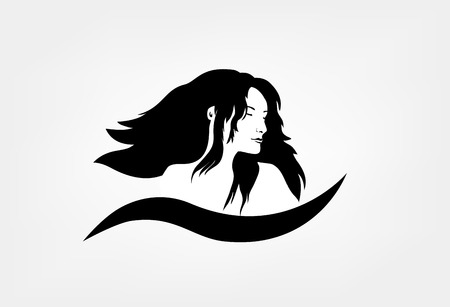 Face silhouetteLogo for beauty salon with female Illustration