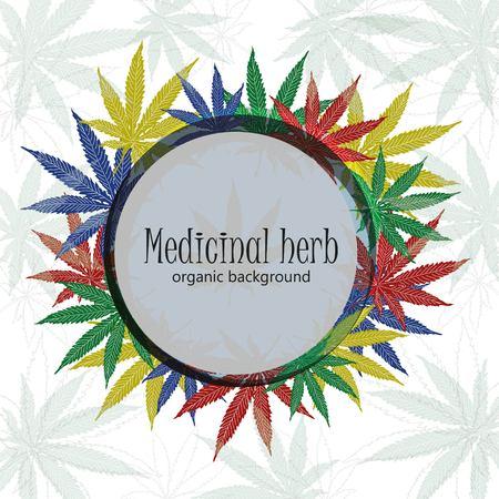 legalize: Marijuana leafs. Cannabis plant background. Hand drawn style. Illustration