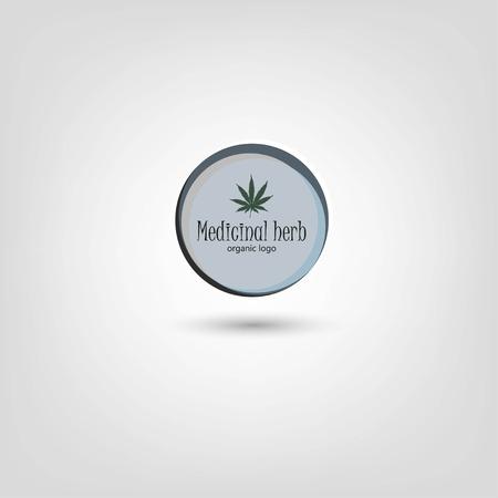 Marijuana leafs logo. Cannabis plant logo. Hand drawn style.