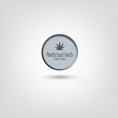 Marijuana leafs logo. Cannabis plant logo. Hand drawn style. Illustration