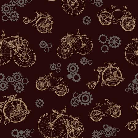 Bicycle pattern.