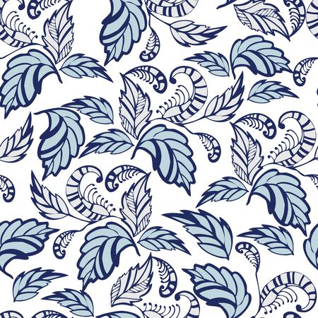 Seamless hand-drawn flowers pattern. Seamless pattern can be used for wallpaper, pattern fills, web page background,surface textures. Gorgeous seamless floral background
