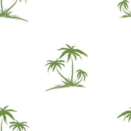 Hand drawn seamless pattern. Simple seamless palm tree pattern. Perfect for fabric, wallpaper or giftwrap -Vector illustration Zdjęcie Seryjne - 135380275