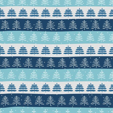 Seamless Christmas patterns. Vector design in nordic style. Zdjęcie Seryjne - 134923778