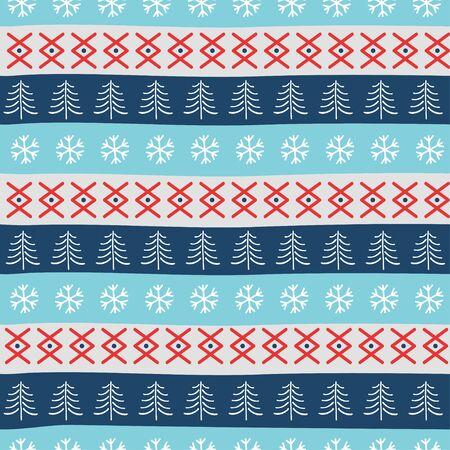 Seamless Christmas patterns. Vector design in nordic style. Zdjęcie Seryjne - 134923773