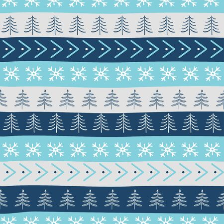 Seamless Christmas patterns. Vector design in nordic style. Zdjęcie Seryjne - 134923768