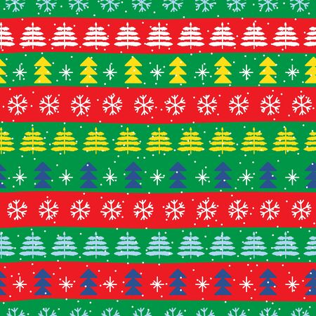 Seamless Christmas patterns in national color flag Portugal style. Vector design in nordic style. Hand drawn doodle seamless pattern. Festive Christmas packaging. Zdjęcie Seryjne - 134983604