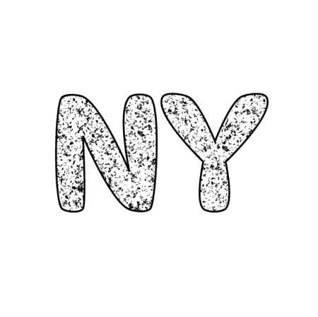 NY text. new york grunge  illustration
