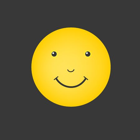 Smiley face. Yellow smile isolated. World smile day. Vector illustration. Smiley vector, icon. Emoticon icon Ilustracja