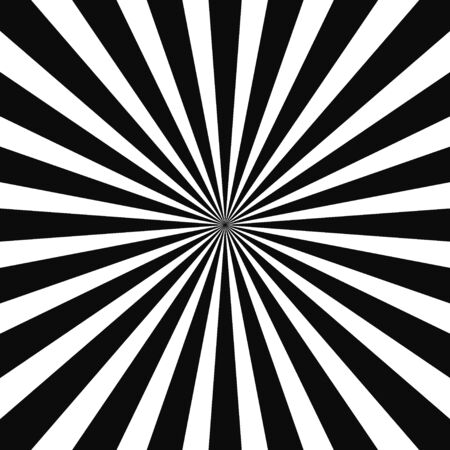 Abstract optical illusion background vector design. Psychedelic striped black and white backdrop. Hypnotic pattern.White and black beam style background. Vector