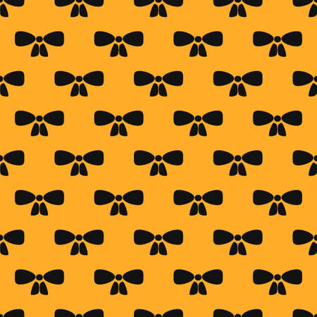 Black Bow tie icon isolated seamless pattern on white background. Vector illustration