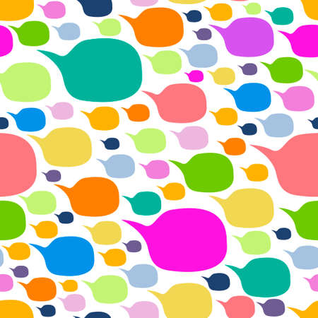 Speech Bubble Shape Colorful Seamless Pattern Vector illustration