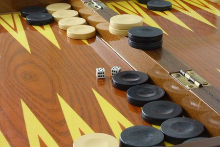 backgammon: backgammon black versus white