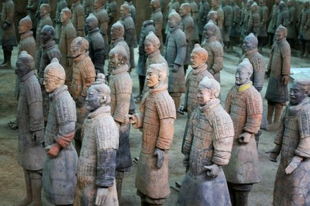 terra-cotta warriors in xian, china