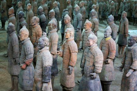 cotta: terra-cotta warriors in xian, china