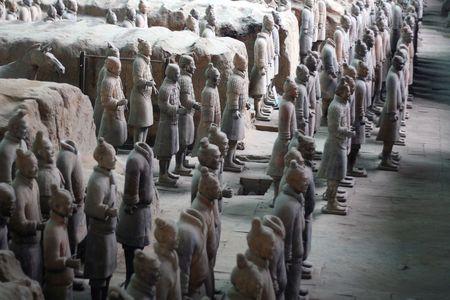 terra: terra cotta warriors in xian, china