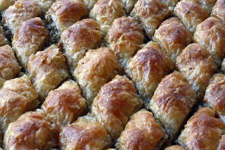 baklawa: turkish dessert baklava Stock Photo
