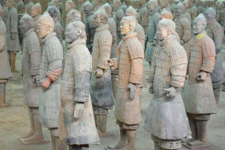 terracotta: terra-cotta warriors in xi-an, china
