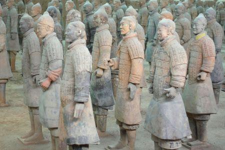 terra-cotta warriors in xi-an, china