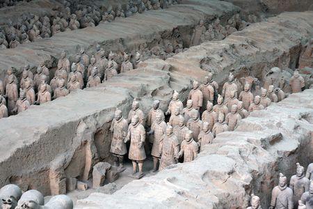 cotta: terra cotta warriors in china