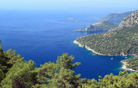 beautiful bay as background photo