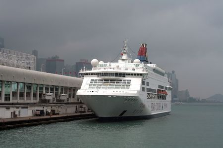 Cruise Ship at the harbour on a cloudy day Stock Photo - 6890386