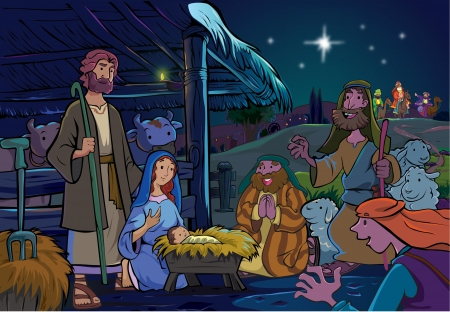crist: The savior was born Illustration